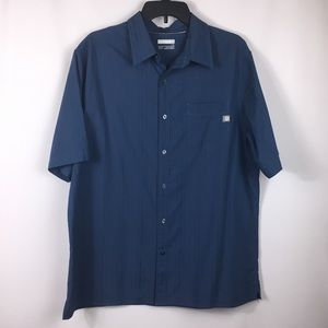 Marmot Blue short sleeve button up shirt